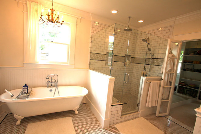 traditional bathroom 1920 Craftsman Rehab in Houston Heights Historic District
