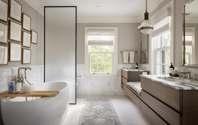 Bathroom of the Week: Soft Neutrals With a Nod to History