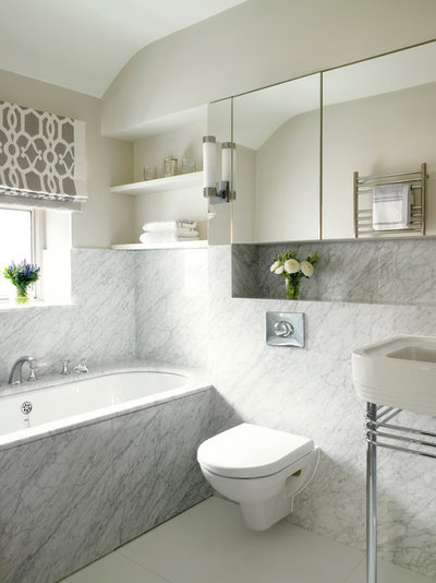 Transitional Bathroom by CLPM Limited