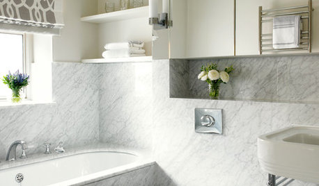 9 Beautiful Bathrooms Where Marble Steals the Show
