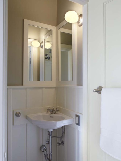corner mirror bathroom corner sink and mirror home design ideas pictures 12535