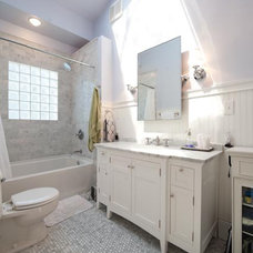Traditional Bathroom 1920s White Marble Bathroom Makeover