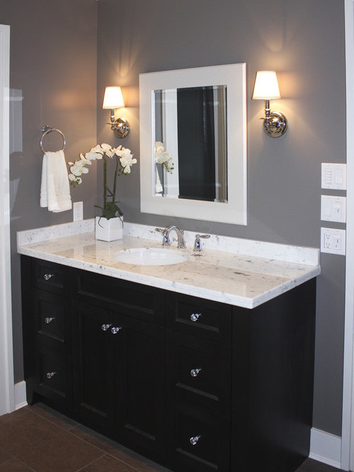 Espresso vanity houzz for Bathroom vanities vancouver wa
