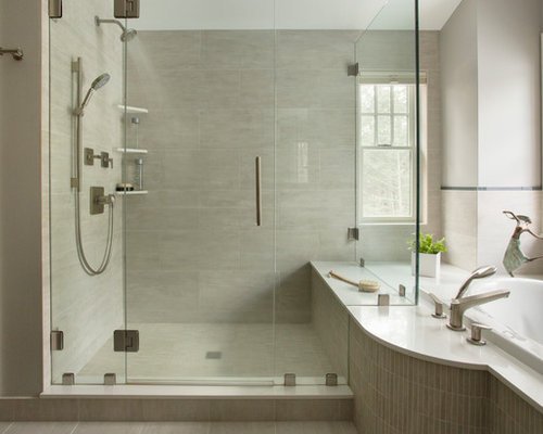 large format grey tile ideas, pictures, remodel and decor, Home decor