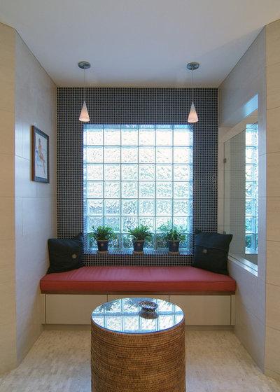 contemporaneo stanza da bagno by four square design studio