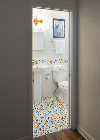 Charming Bath Vanities New Jersey Huge Bath Tub Mat Towel Regular Dual Bathroom Sink Painting Bathroom Vanity Pinterest Young Bathroom Toiletries Shopping List BrownLowes Bathroom Vanity Tops Room Of The Day: Vibrant Retro Tile Adds Pizazz To A Small Bathroom