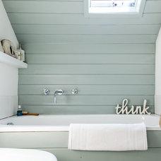 Beach Style Bathroom by Gabriel Holland Interior Design