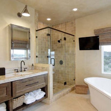 traditional bathroom by SILVERTON CUSTOM HOMES