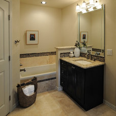 Transitional Bathroom by Nicole Arnold Interiors