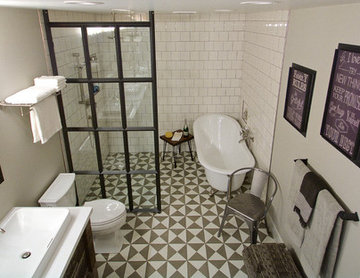 19th Century Parlor inspired Master bath