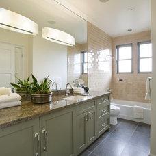 Eclectic Bathroom by McMahon Architects+Studio