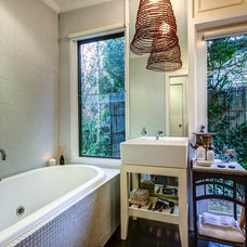 Eclectic Bathroom by Andrew Patton Photography