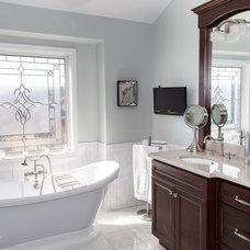 Transitional Bathroom by Karen Spiritoso Home Designs By Karen