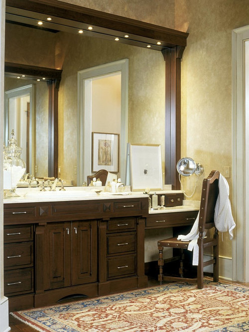 Nice Inspiration For A Timeless Bathroom Remodel In Boston With Raised Panel  Cabinets And Dark Wood