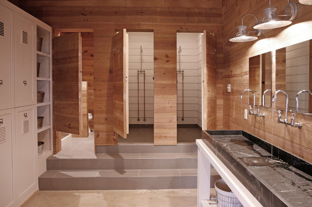 Wood in the bathroom absolutely - Bath shower room ...