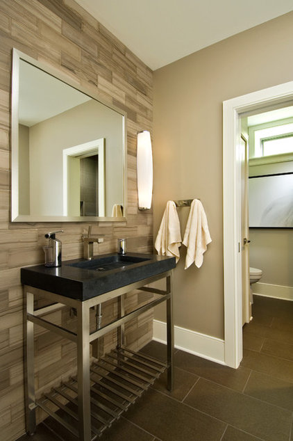 modern bathroom by Witt Construction