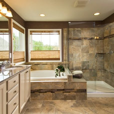 traditional bathroom by Plum and Crimson Fine Interior Design