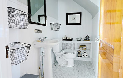 Who Says You Can't Squeeze Extra Storage Into a Small Bathroom!