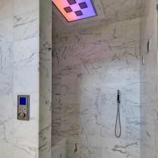 Trendy white tile bathroom photo in Orlando