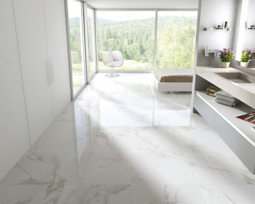 Carrara porcelain tile ideas pictures remodel and decor for Stone floor renovation