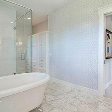 Transitional Bathroom by Carl M. Hansen Companies