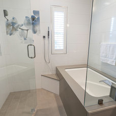 Transitional Bathroom by NWC Construction