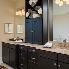 Craftsman Bathroom by SH Designs Inc