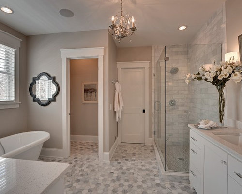Save Photo. Houzz   6X8 Tile Bathroom Design Ideas   Remodel Pictures