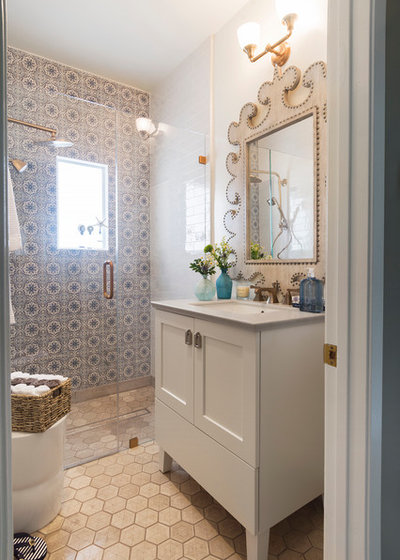 Transitional Bathroom by Carolyn Reyes