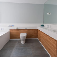 contemporary bathroom by moon design + build