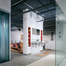 Industrial Bathroom by Studio MM, pllc