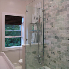 contemporary bathroom by 3 Doors Down Home Staging & Interior Redesign