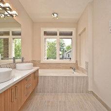 Modern Bathroom by Masterplan Residential Drafting and Design