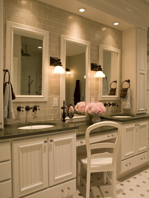 vanity lighting ideas. Example Of A Classic Bathroom Design In New York Vanity Lighting Ideas N