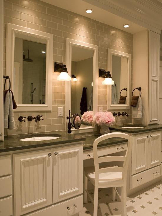 master bathroom makeup vanity | houzz