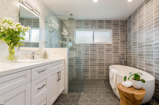 Transitional Bathroom by DTLA DESIGN