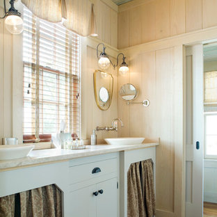 Inspiration for a traditional bathroom in Atlanta with a vessel sink.