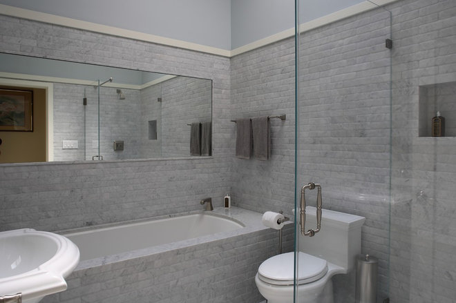 Guest Bathroom Carrara Marble