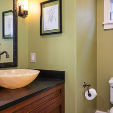 Craftsman Bathroom by FJU Photography