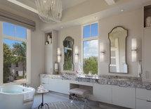Vanity stool/mirrors