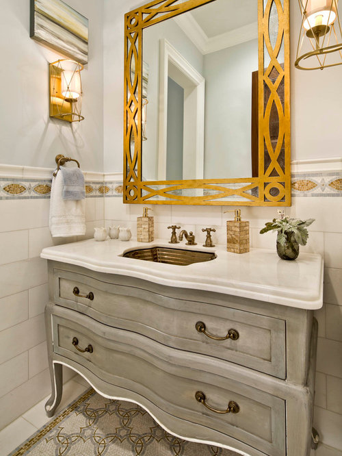 Bathroom Mirror Gold gold bathroom mirror | houzz