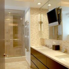 Modern Bathroom by Ethelind Coblin Architect P.C