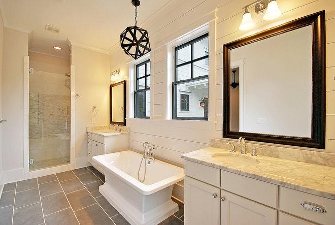 Traditional Bathroom by HND2 Associates