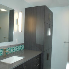 Contemporary Bathroom by Kitchen Masters, Inc.