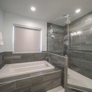 Bathroom - shabby-chic style bathroom idea in Houston
