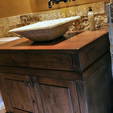 Traditional Bathroom by Elevation Architectural Studios