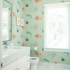 Transitional Bathroom by Alicia Weaver Design, LLC