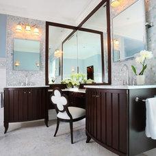 Transitional Bathroom by Reddington Designs