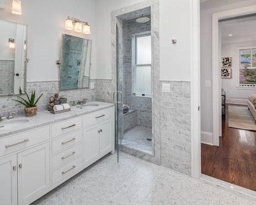 White And Grey Bathroom Home Design Ideas, Pictures, Remodel and Decor