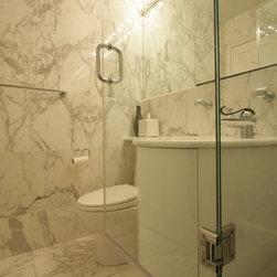 461 shower Small Bath Design Photos with an Alcove Tub and an Alcove ...